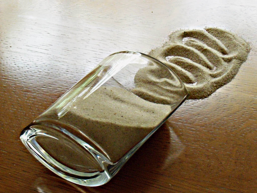 swirl of sand