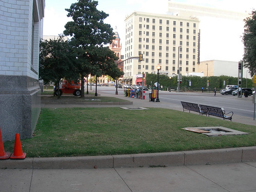 Union Station's front lawn.