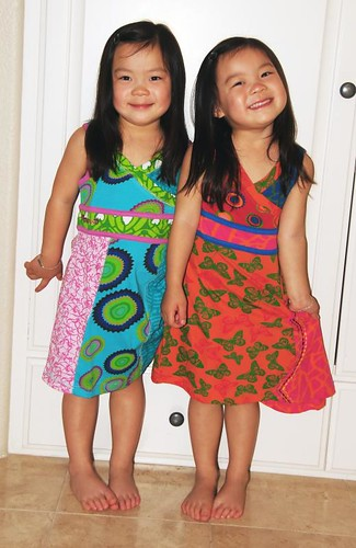 Ro (left) and Ree in the Desigual dresses from Daddy