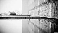 | [Backlog] (Stephan Geyer) Tags: bw reflection monochrome canon person 50mm blackwhite muslim islam uae columns mosque explore abudhabi 5d canon5d 5014 ef50mmf14usm canoneos5d explored featuredonadidapcom canon5dclassic