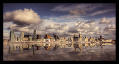..cause this land's the place I love... (Lee Carus) Tags: water skyline zeiss liverpool reflections river sony carl 28 alpha 2009 hdr mersey 2470 a900