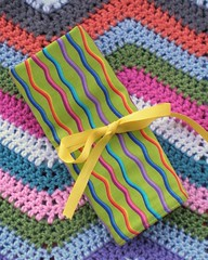 Crochet Roll Up - Green Rainbow