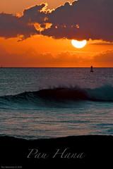 Pau Hana (Rex Maximilian) Tags: ocean sunset sky clouds hawaii waves oahu horizon shore honolulu buoy kakaakopark buoyant kaka'akopark