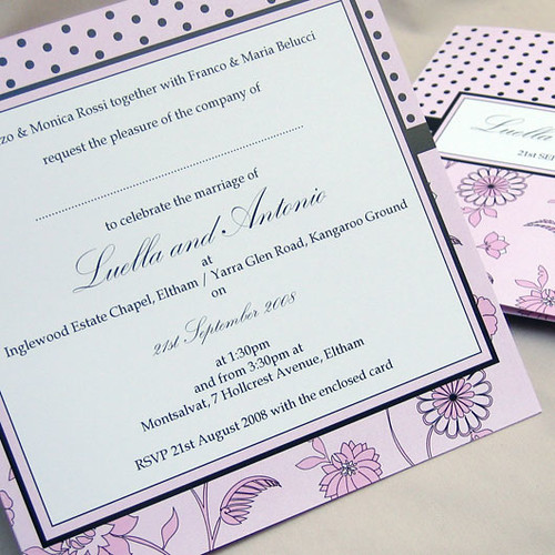 Florella pink wedding invitation from mini Moko, Florella pink Wedding invitation idea, wedding invitation sample, wedding invitation, flowers, photos
