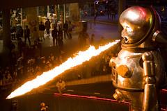 Japan's latest weapon (KoZa_KoZa) Tags: art japan fire robot flame weapon roppongi