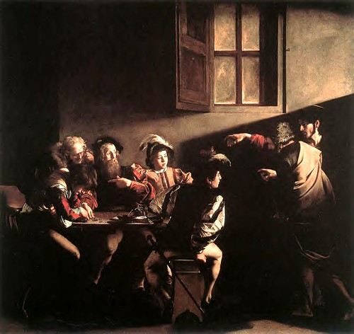 The Calling of Saint Matthew, Caravaggio, 1600