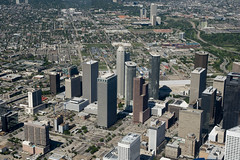 Downtown Houston from 2000ft (baldheretic) Tags: port flying downtown houston aerialphotography shipchannel houstonist