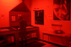 Exposed Darkroom (Gamma-Ray Productions) Tags: longexposure light red canada darkroom dark table person photography room ottawa shade process dim chemicals hue develop merivalehighschool