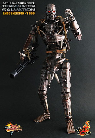 Hot Toys Terminator T-600 Endoskeleton Action Collectible Figure 12""