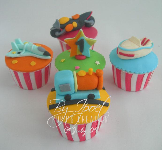 Transportation Cupcake