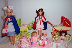 Fleur babies with their nurses