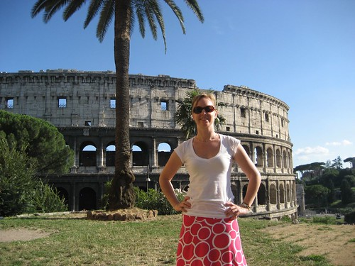 Mom at the Colosseum
