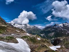 Grimselpass (Jos Mecklenfeld) Tags: road snow mountains alps clouds landscape schweiz switzerland suisse pass alpen pas wallis ricoh col landschap berneroberland zwitserland grimsel furka furkapass grimselpass gx200 flickrclassique