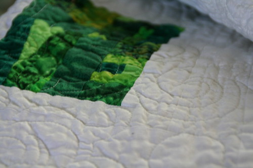 Wedding quilt - detail