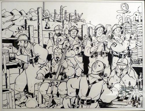 Dessin de Jacques Tardi exposé à l'Historial de la Grande Guerre à Péronne