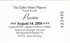 Passion ticketstub