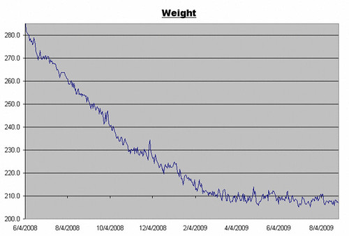 Weight Log for August 28, 2009