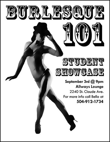 Fwd: Burlesque 101 Student Showcase