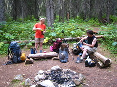 Allison and Caleb,Long Canyon Trail, Selkirk Mountains, North Idaho.