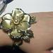 Flower corsage bracelet