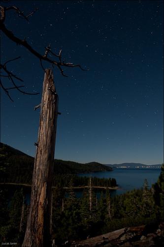Full moon on Lake Tahoe