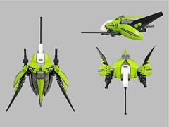 Damare v2 Fighter (Fredoichi) Tags: fighter lego space shooter starfighter cannonfodder shmup fredoichi
