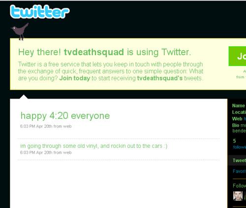 Marty Kraham says Happy 420