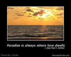 Paradise Sunset in Tampa Florida Cool eCard (sharingflorida) Tags: sunset tampa florida ecard romanticsunset sharingflorida