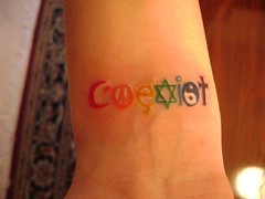 coexist tattoo (tatzbyjustin) Tags: tattoo cool rainbow tattoos awsome tatoos pimp tatoo tat tats coexist tatz