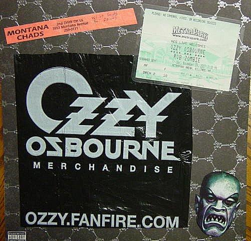 Ozzy Zombie concert goods