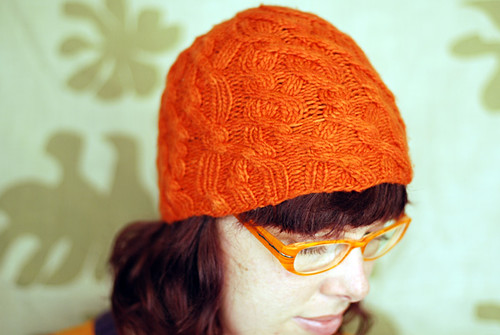 Orange Game-Knitted Hat by Lee Meredith. Used under Creative Commons licence.