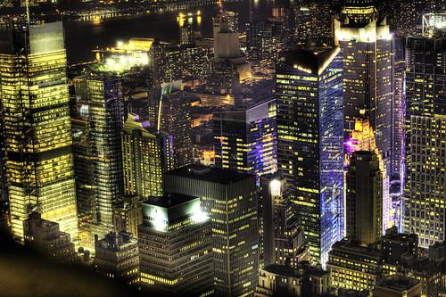 フリー画像| 人工風景| 建造物/建築物| 街の風景| 夜景| ビルディング| HDR画像| アメリカ風景| ニューヨーク|   フリー素材|