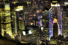 [フリー画像] [人工風景] [建造物/建築物] [街の風景] [夜景] [ビルディング] [HDR画像] [アメリカ風景] [ニューヨーク]   [フリー素材]
