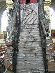 Bruxelles (Belgique), glise Notre-Dame de la Chapelle: chaire de 1721. (Marie-Hlne Cingal) Tags: brussels church stairs belgique belgie bruxelles scala brussel glise pulpit escaleras treppen escaliers chaire pulpito notredamedelachapelle pierredenisplumier