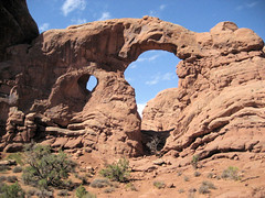Turret Arch (jbtuohy) Tags: nature rock landscape outdoors arch natural formation archesnationalpark turretarch windowssection
