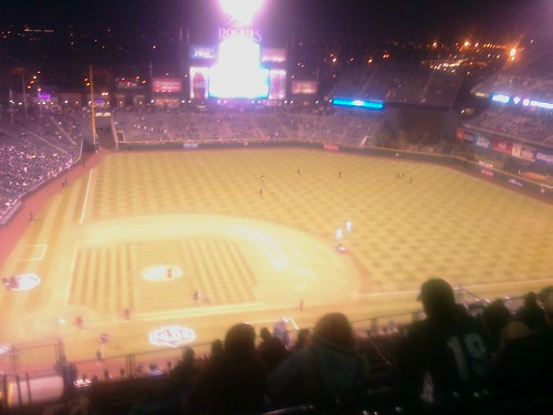 We might get a nosebleed tonight! At the rockies game, going tomorrow too, ticks not for sale! by you.