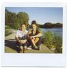 Lou et sa copine en Polaroid (Elene.B (sobre todo, estar…)) Tags: france polaroid south provence 2009 sud octobre aviron imagesystem savepolaroid