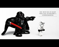 Aren't you a little short for a stormtrooper? (Day 1) (Dave Andrew) Tags: storm trooper toy toys star lego small away galaxy darth short stormtrooper wars vader figures far scpad101