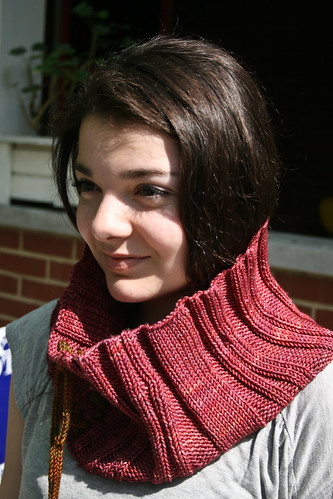 "French Press Cowl in Madelinetosh ""Amber Trinket"""