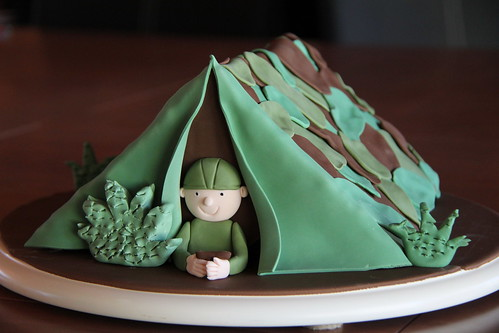 Army tent cake