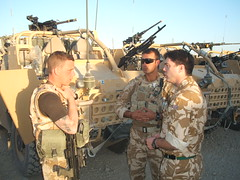 Stephen visiting Royal Marine Commandos in Afghanistan (December 2008)