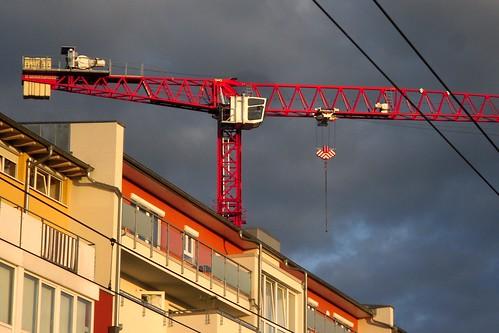 Red crane (detail)