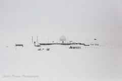 I'm Being Watched! (Jason Pineau) Tags: winter snow warning island early site nu north lakes arctic dew nunavut radar distant dewar baffin