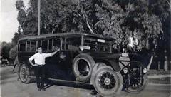 Leave the Driving to Us (Bodie Bailey) Tags: california family blackwhite transportation greyhoundbus frankmcmahon greyhoundbuslines pacificgreyhound