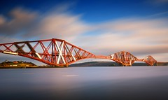 Forth Bridge Long Exposure (Semi-detached) Tags: bridge sea blur clouds river landscape nikon edinburgh long exposure angle fife south north wide sigma rail wideangle forth 1020mm 1020 density firth queensferry neutral nd1000 aplusphoto