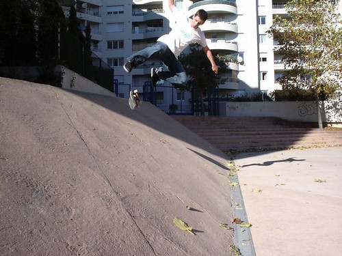 Backside kickflip.