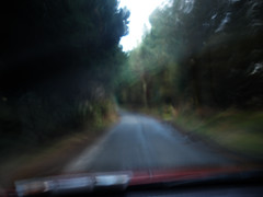 Enjoying the small roads..
