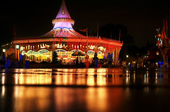 Disney - Cinderellas Golden Carousel at Night