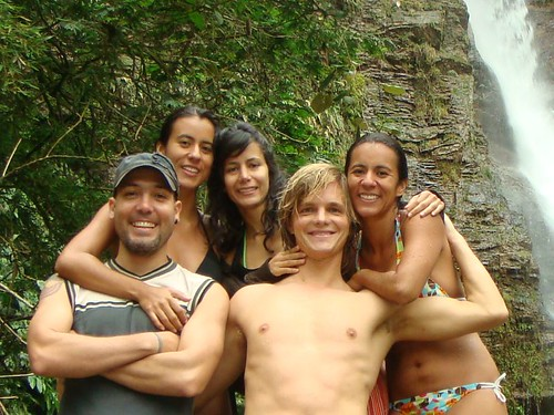 Uli, Marcela, Paula, me, and Martiza at the waterfall...