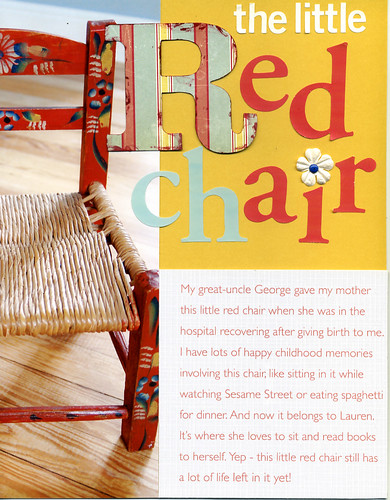 The Little Red Chair.